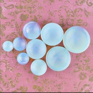Concave Opalite and Onyx Plugs